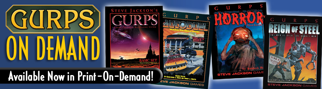 Banner link to GURPS On Demand 2
